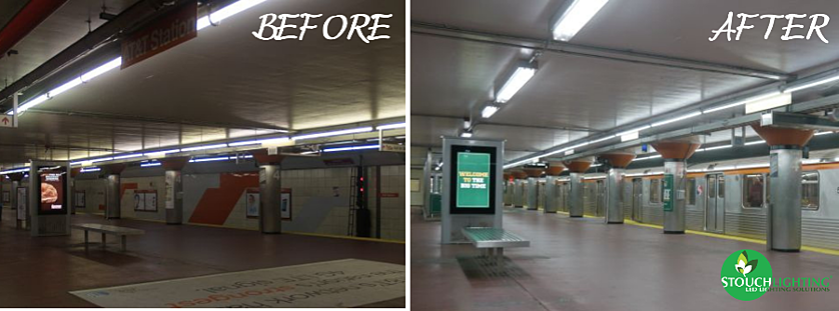 LED Lighting Retrofit After Photo SEPTA Subway Station Stouch Lighting