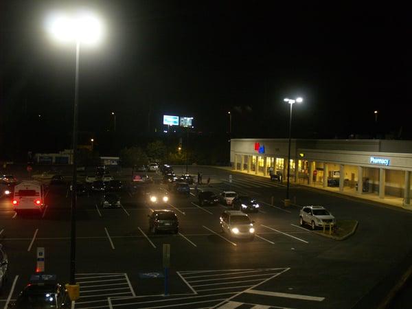 LED conversion shopping center