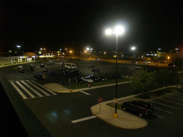 LED conversion parking lot