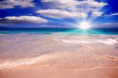 Beach Sun Shining