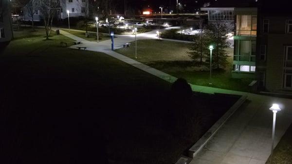 Neumann University Pathway Before LED Retrofit