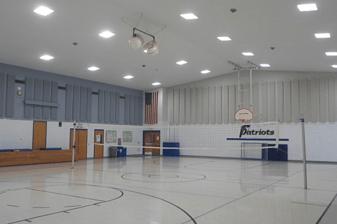 Stouch Lighting After Photo LED Retrofit Gymnasium