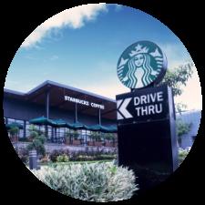 Starbucks Exterior and Drive Through Signage