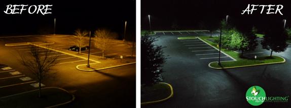Before After Neumann Case Study Exterior Parking Lot