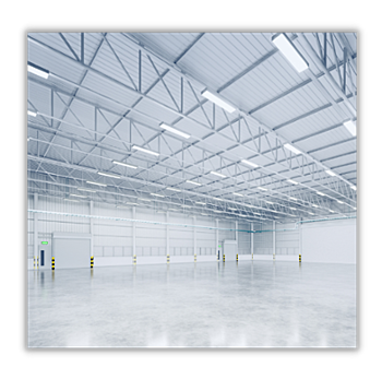 Industrial LED High Bay Lighting in Warehouse