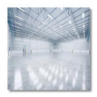 LED High Bay Lighting in Large Warehouse