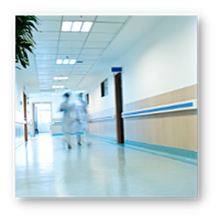 Fluorescent Replacement Lighting for Hospital Hallways