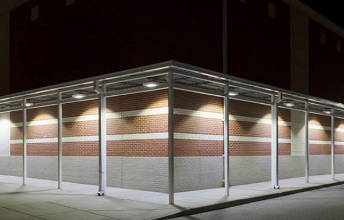 LED Canopy Lights & Parking Garage and Canopy Lighting Applications