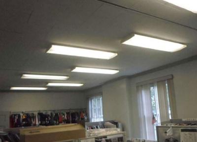 Fluorescent Recessed Lighting in Office