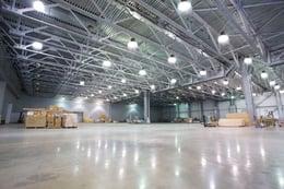 LED Lighting in Large Warehouse