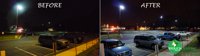 led parking lot lighting led pole lights