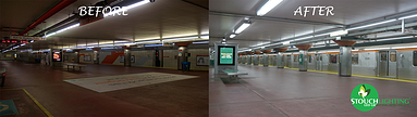 Fluorescent to LED conversion for Southeastern Pennsylvania Transit Authority