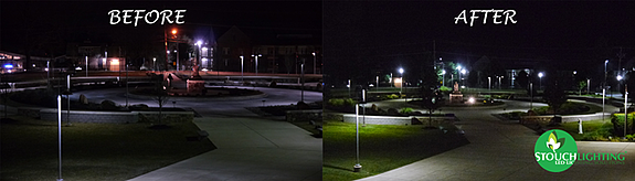 College Campus Quad Lighting Improvements With LED Lights