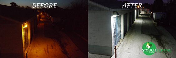 LED Lighting Conversion (Retrofit) For LPS Outdoor Lighting at Storage Facility