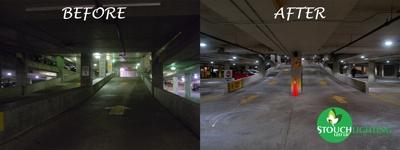 Franklin Institute Parking Garage LED Lighting Retrofit