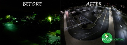led parking lot lighting pole lights
