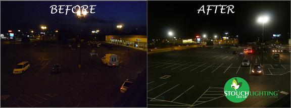 Shopping Center Philadelphia PA New LED Light Conversion from HPS