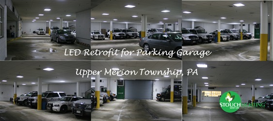 Upper Merion Township Parking Garage LED Lighting Conversion & Retrofit