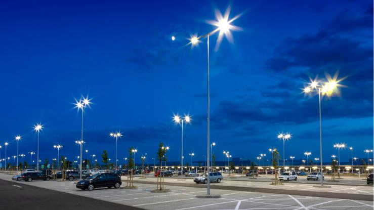 Flood Lighting Parking Lot Header Image for Pillar Page