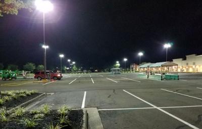 Parking Lot Commercial Lighting Retrofit After Photo
