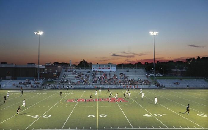 LED Stadium Lights over Soccer Turf Field-1