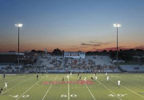 Stadium Lights at Night School Soccer Field