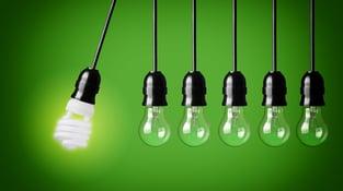 Lighting Hanging on Green Background