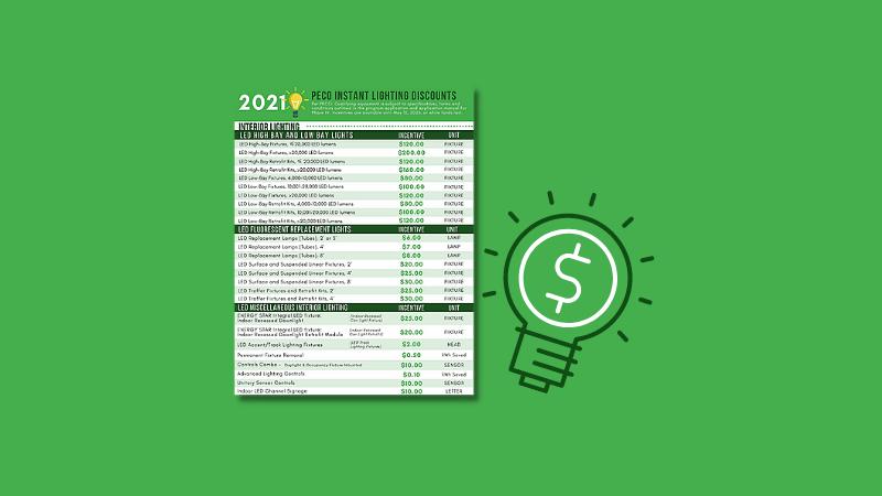2021 PECO Lighting Rebate featured image