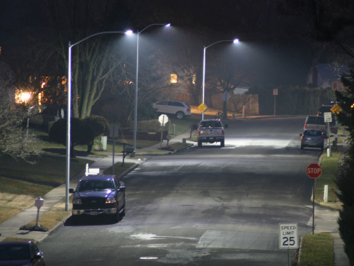 Aston Township Street Lighting LED Retrofit Township Street Lighting Conversion After Photo