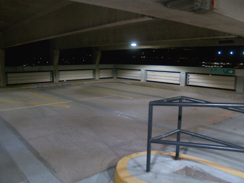 Parking Garage LED Retrofit After Photo at M&T Bank