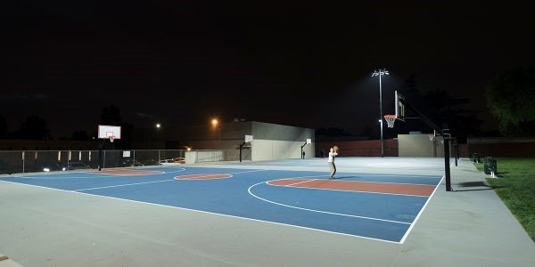 LED basketball court lights