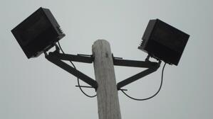 Commercial and Industrial Flood Lights on Top Post