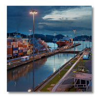 High Mast Lights in Shipping Port