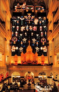 Wanamaker Organ Christmas Light Show Philadelphia (LED Lights)