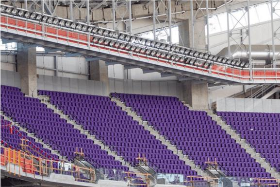 LED Retrofit Project NFL's Minnesota Vikings
