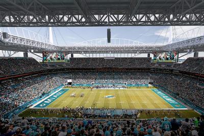 Miami Dolphine Sun Life Stadium LED Lights