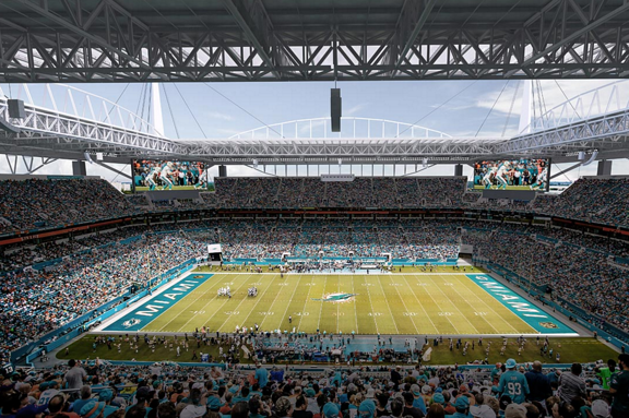 World's Largest High Definition LED Screen In Football Stadium