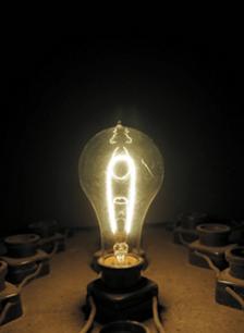 Replica of Thomas Edison Incandescent Light Bulb