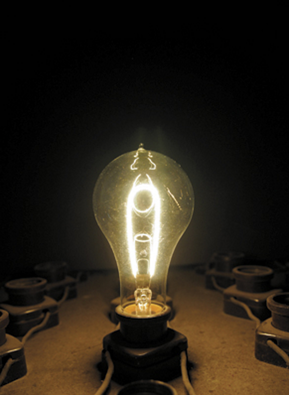 A Working Replica of Thomas Edison's Incandescent Light Bulb Created by John and Lynda Casey of Missouri