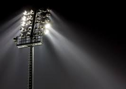 Metal Halide Lights at an outdoor sporting stadium