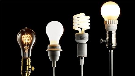 Incandescent, CFL, LED lighting evolution