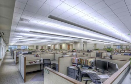 Fluorescent Replacement Lighting in Office