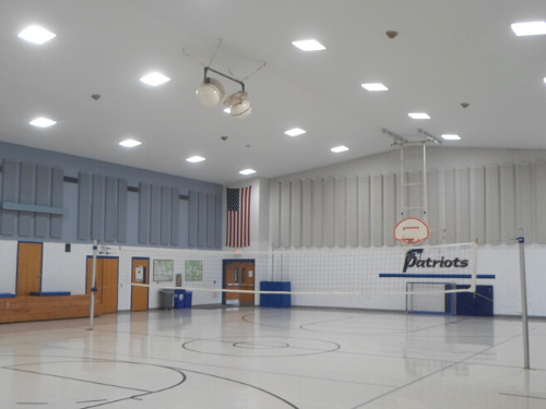 Gym LED Lighting Conversion After Photo