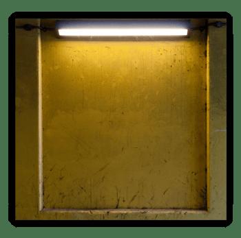 Strip Lighting Fixture in Industrial Space