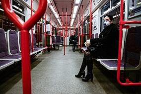 Subway Interior During Coronavirus Pandemic