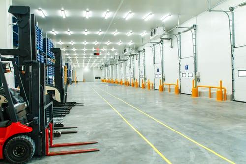 LED Lighting Illuminating Warehouse Indoors
