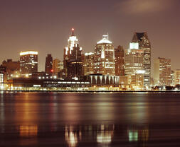 detroit-skyline-with-night-lights-michigan