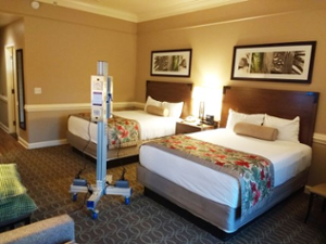 UV Disinfection Light in Hotel Room