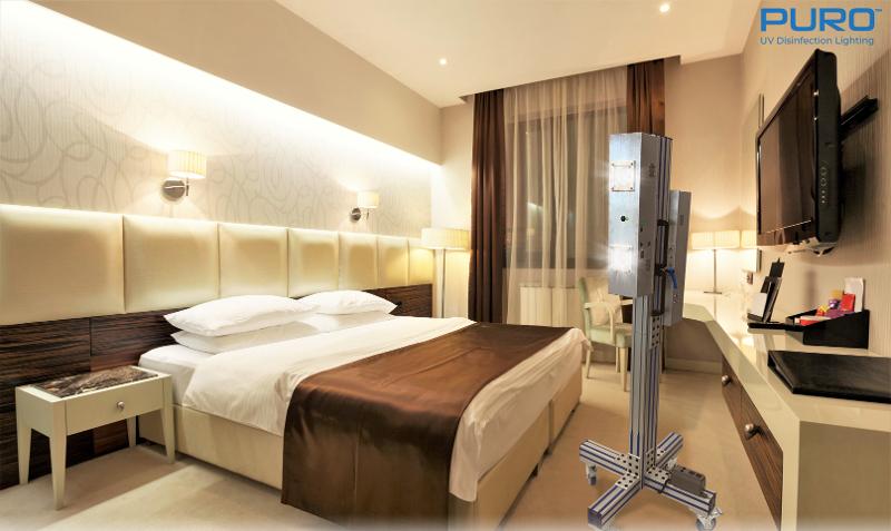 PURO UV Light Sanitization in Hotel Room