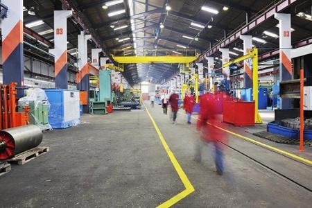 Iron Steel Works Factory Illuminated with LED Lights
